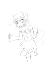 Fox girl doodle thing by Rhora