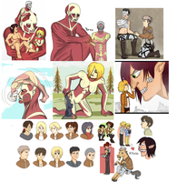 Shingeki no kyojin things by Tetris-Fan
