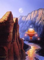 Canyon Lights by AlanGutierrezArt