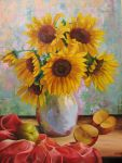 Sunflowers and apples by Kaitana