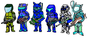 Soldiers of Terraria by ppowersteef