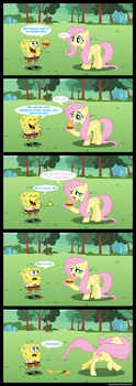 Fluttershy doesn't eat animals! by iamcommando13