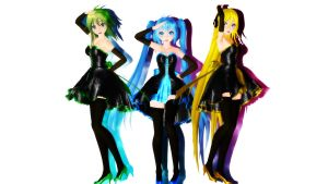 MMD TDA:My New Models! by AmaneHatsura