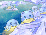 ::Spheal and Sealeo:: by chibi-tachi