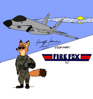 Nick pilot air force Zootopia by Giuseppe Iacomino by EzequielBR