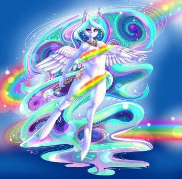 Paint the day - Princess Celestia by TheNeitherVoid