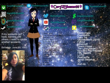 My Personal Profile by ZombieLover93