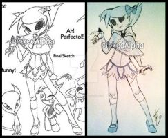 Before And After- Lucy Skeledoll by Inked-Alpha