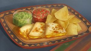 Food - quesadilla by Nightblue-art