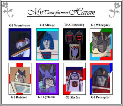 My Transformers Harem by Charise-Nitefire