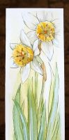 Daffodil Bookmark by HellishChaos