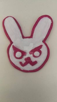 NERF THIS!! D.va clay logo ^-^XD!! by AshinoX1