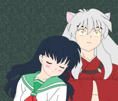Inuyasha and Kagome by ChocolateSprinkleTFK