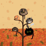 Autumn Cats by cresqlavicy