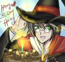 Happy B-day Potter by Siliceb by Hogwarts-Castle