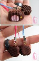 Pink Chocolate Truffles by Talty