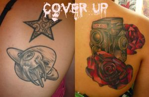 Traditional cover up by tatuato