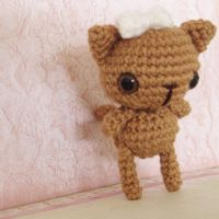 Little posable brown kitty by hellohappycrafts