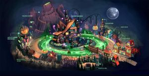 Halloween Town Map by anacathie