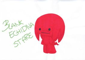 Blank Echidna stare by LeniProduction