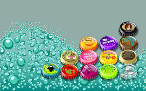 Vector Bottlecap Wallpaper by QuicheLoraine