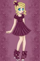 Purple Cocktail Dress by Mel-Rosey