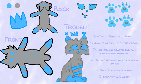 Trouble Reference Sheet by dragonclawscat