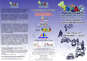 Folder teia regional Campinas by micheltaina