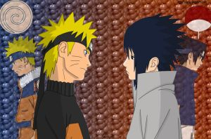 Naruto vs Sasuke... again by Shiayia