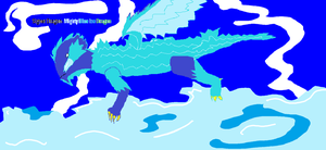 Mighty Blue Ice Dragon by YugiohFanatic789