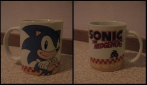 Sonic mug by Niko-the-Hedgehog