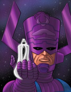 Moon Knight Herald of Galactus by psdguy
