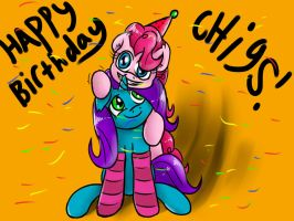 HAPPY BIWTHDAY CHIGS!! by GLOBALPREDATORx