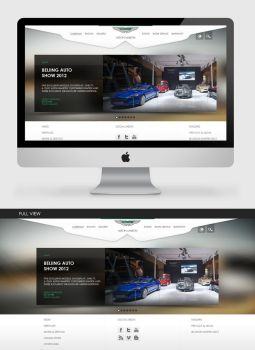 Aston Martin Website (Fanmade) by theidentity