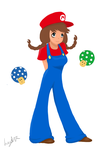 Mario girl by Knitted-Brain