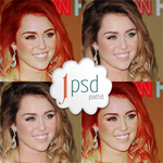 Miley Cyrus 2 PSD coloring by Blowthat