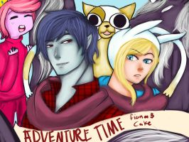 Adventure Time- Fiona and Marshall Lee by PomSpom