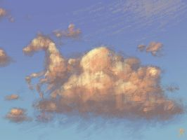 Cloud Horse by martianink