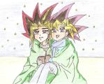 Yami and Yugi Starry Night by YamiSorceress