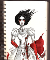 Daily sketch no.36 -Alice Madness Returns- by IoannisCleary
