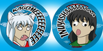 InuYasha Derp Buttons by MasterDoggeh