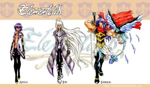 Elementalis Characters 2 by DarkerEve