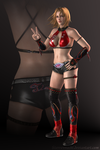 DOA5 - Tina Armstrong - Wrestling (red) by Sterrennacht