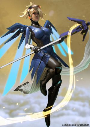 Commission - Mercy Cobalt by Ron-faure