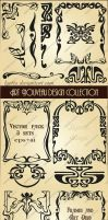 Art Nouveau design collection. Vector set by Lyotta