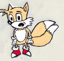 Tails tablet drawing by cobra10