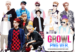 EXO | Growl  PNG Ver. by IliTakishimaCho