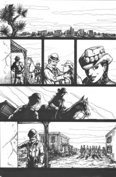 Crow Jane: And the Land of Death page 11 lines by RevolverComics