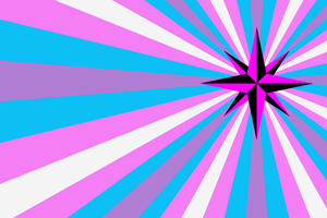 Queer Trans Anarchy Flag by 0x786e6f72
