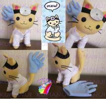 doctor cat plush handmade by chocoloverx3